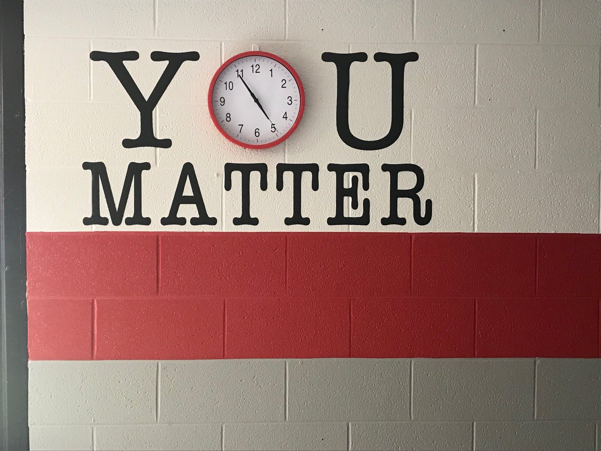 YOU MATTER Sign on Cafeteria Wall