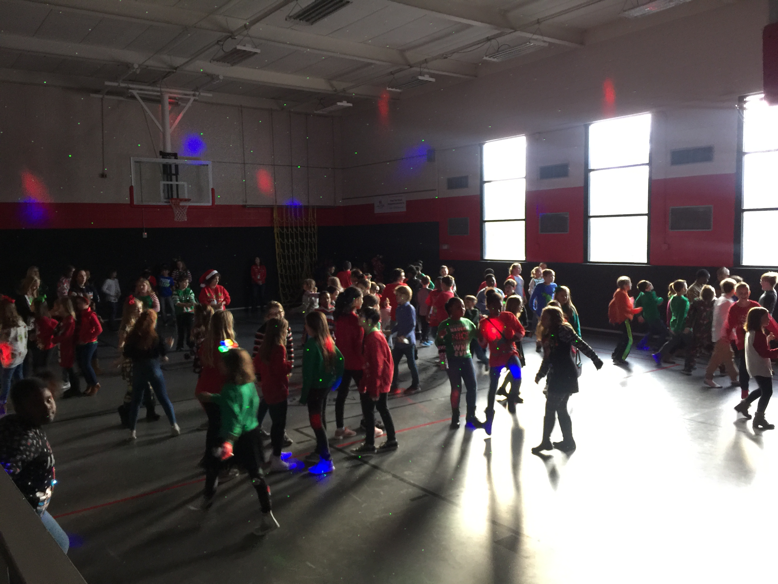 Students dancing in the gym