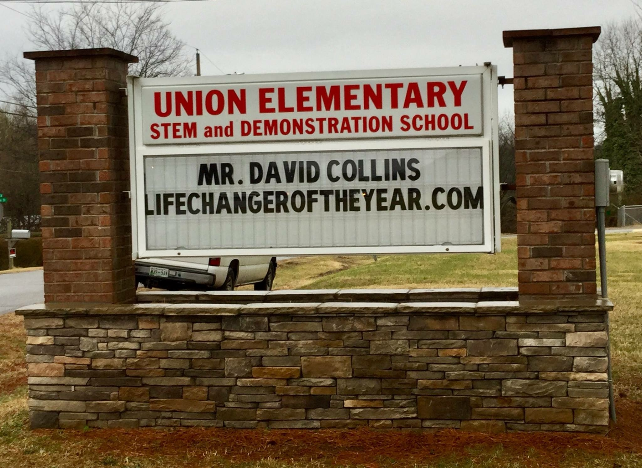 School Marquee with Collins LifeChanger