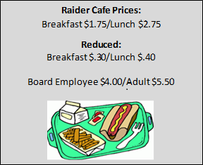 Raider Cafe Prices